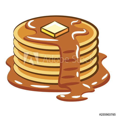 svg freeuse Buy this stock and. Pancake vector.