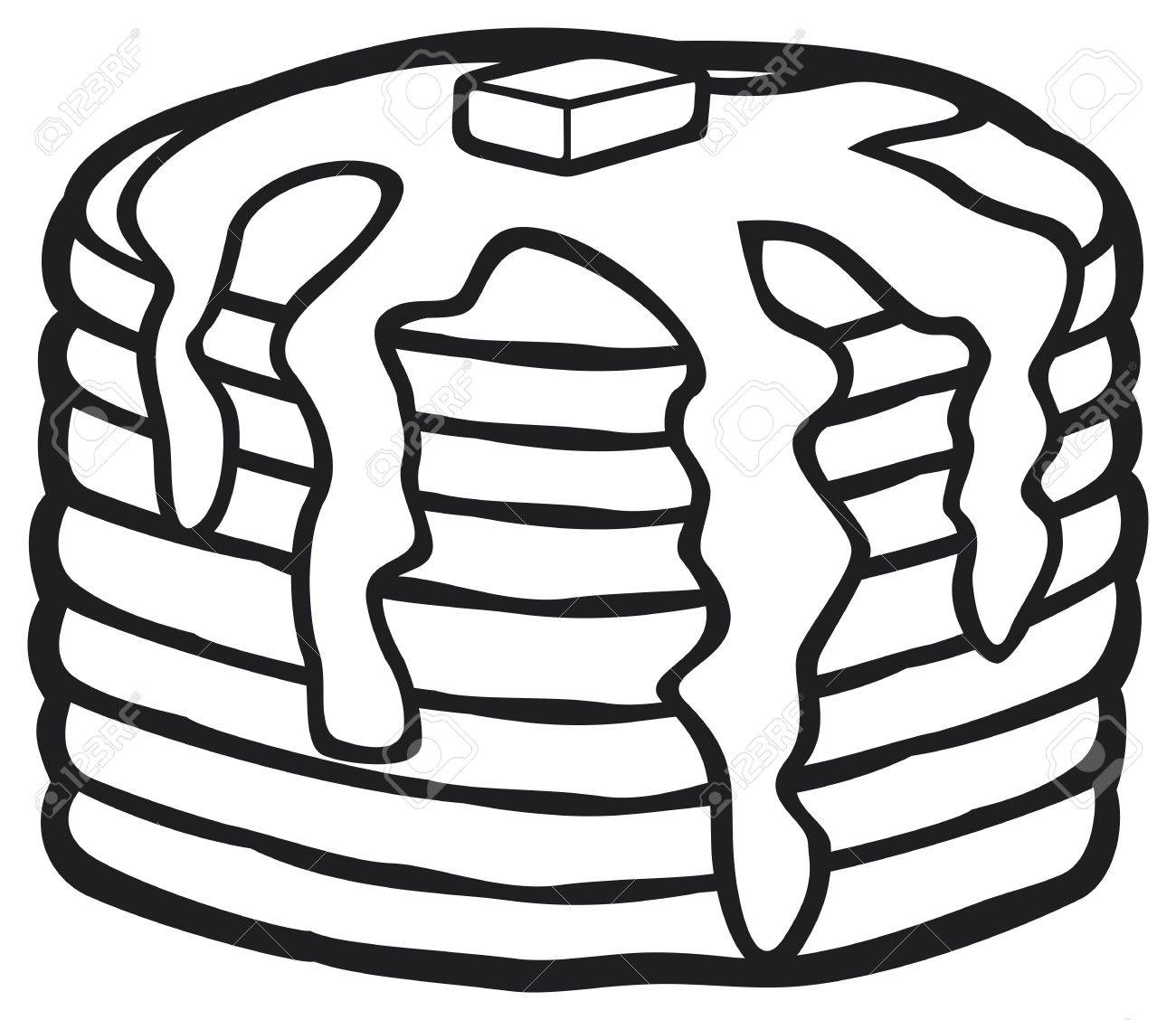 picture black and white download Station . Pancakes black and white clipart