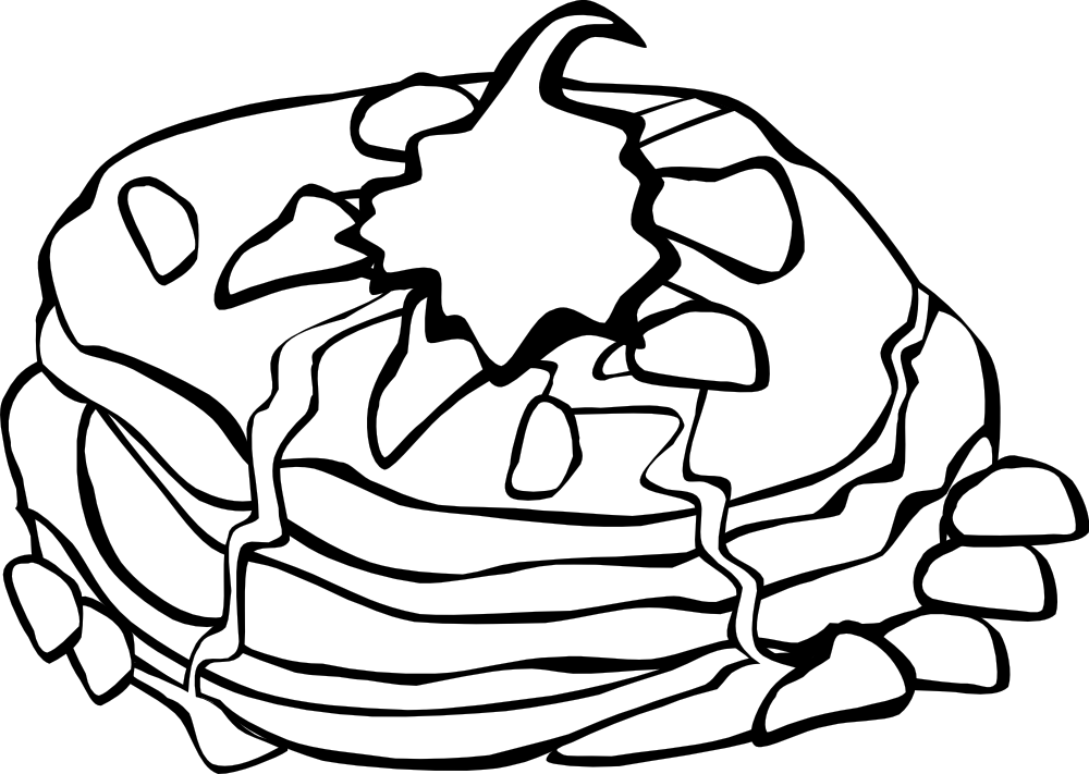 graphic free download Onlinelabels clip art fast. Pancakes clipart black and white