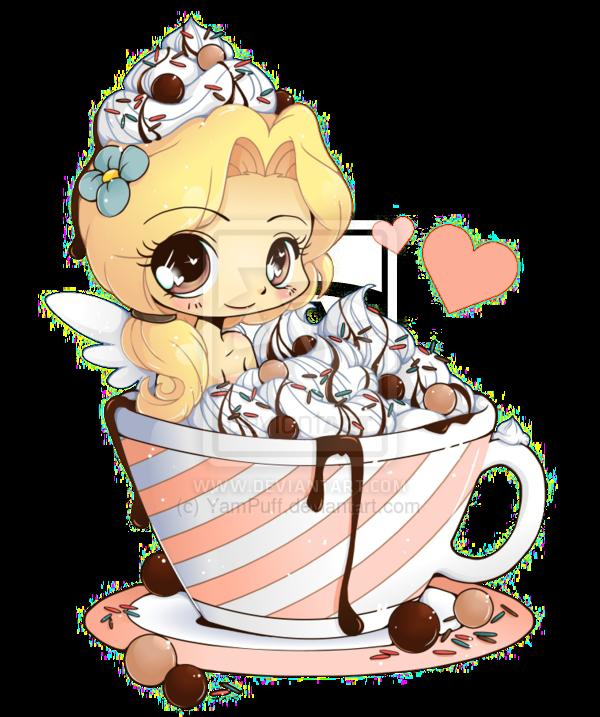 image transparent stock Ice cream anime drawing. Pancakes transparent chibi