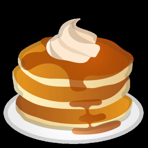clipart stock Pancakes transparent emoji.  google android pie