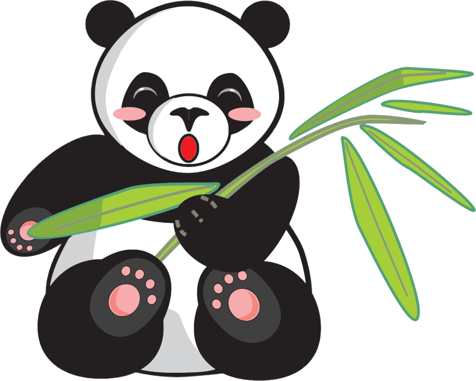 clip black and white library Giant panda Bear Download Drawing Cuteness free commercial clipart