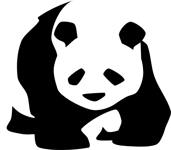 clipart transparent Clip art at clker. Panda bear clipart black and white