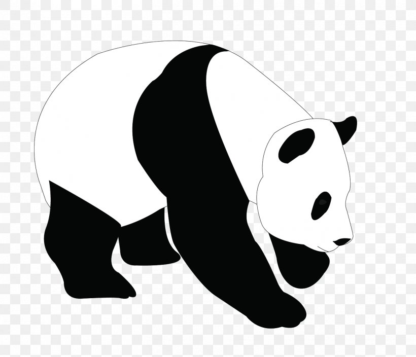 png transparent library Panda bear clipart black and white. Giant clip art png