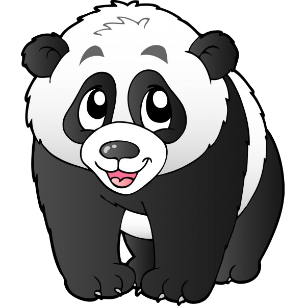 banner freeuse library Bears cartoon animal images. Panda bear clipart black and white