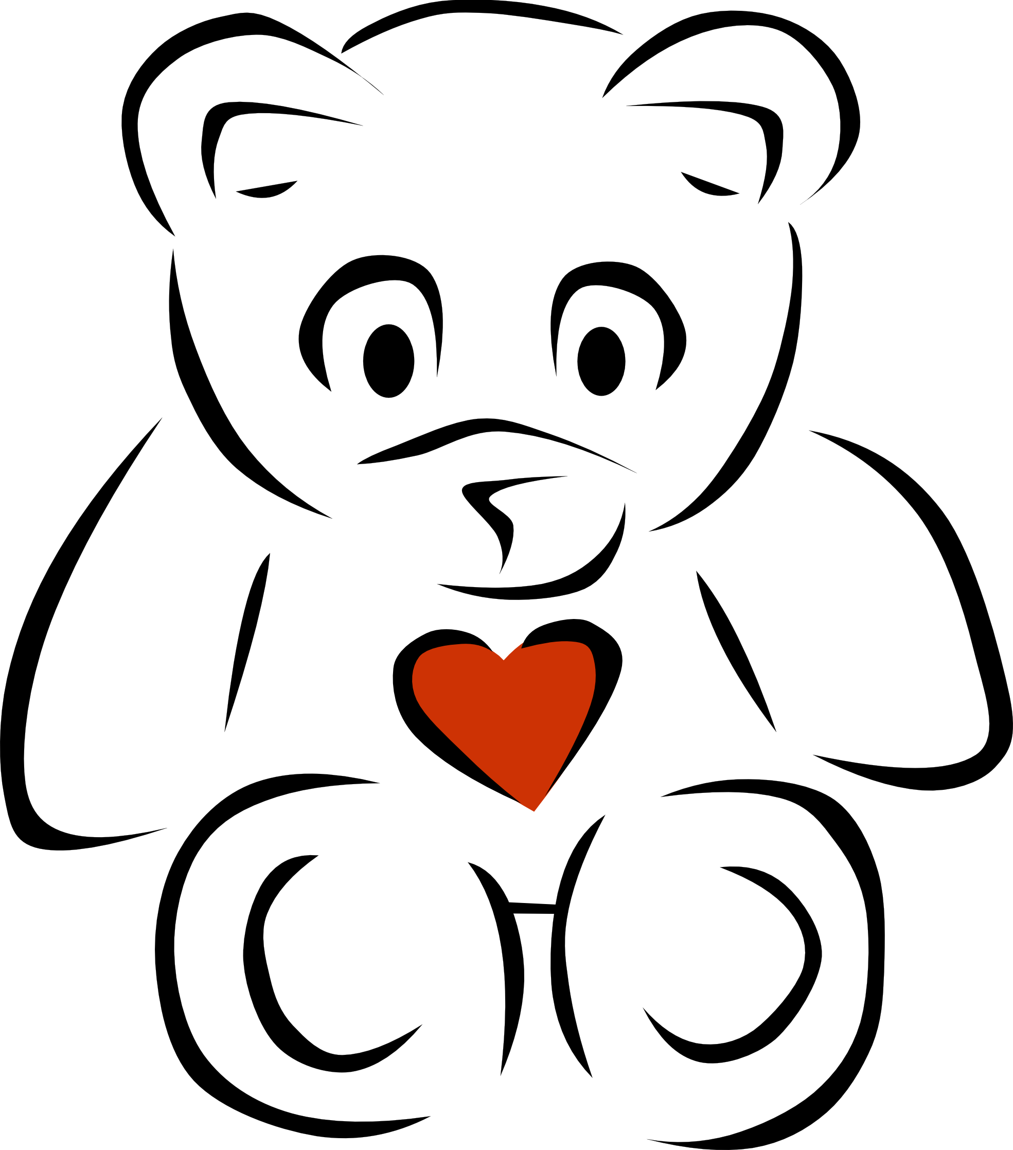 jpg free library Panda bear clipart black and white. Cute free images heartborderclipartblackandwhite
