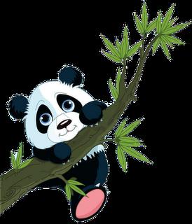 image free Cute cartoon bears clip. Panda clipart.