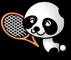 banner free download Panda clipart. Tennis clip art at.