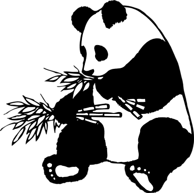 jpg black and white Panda bear clipart black and white. Drawing at getdrawings com