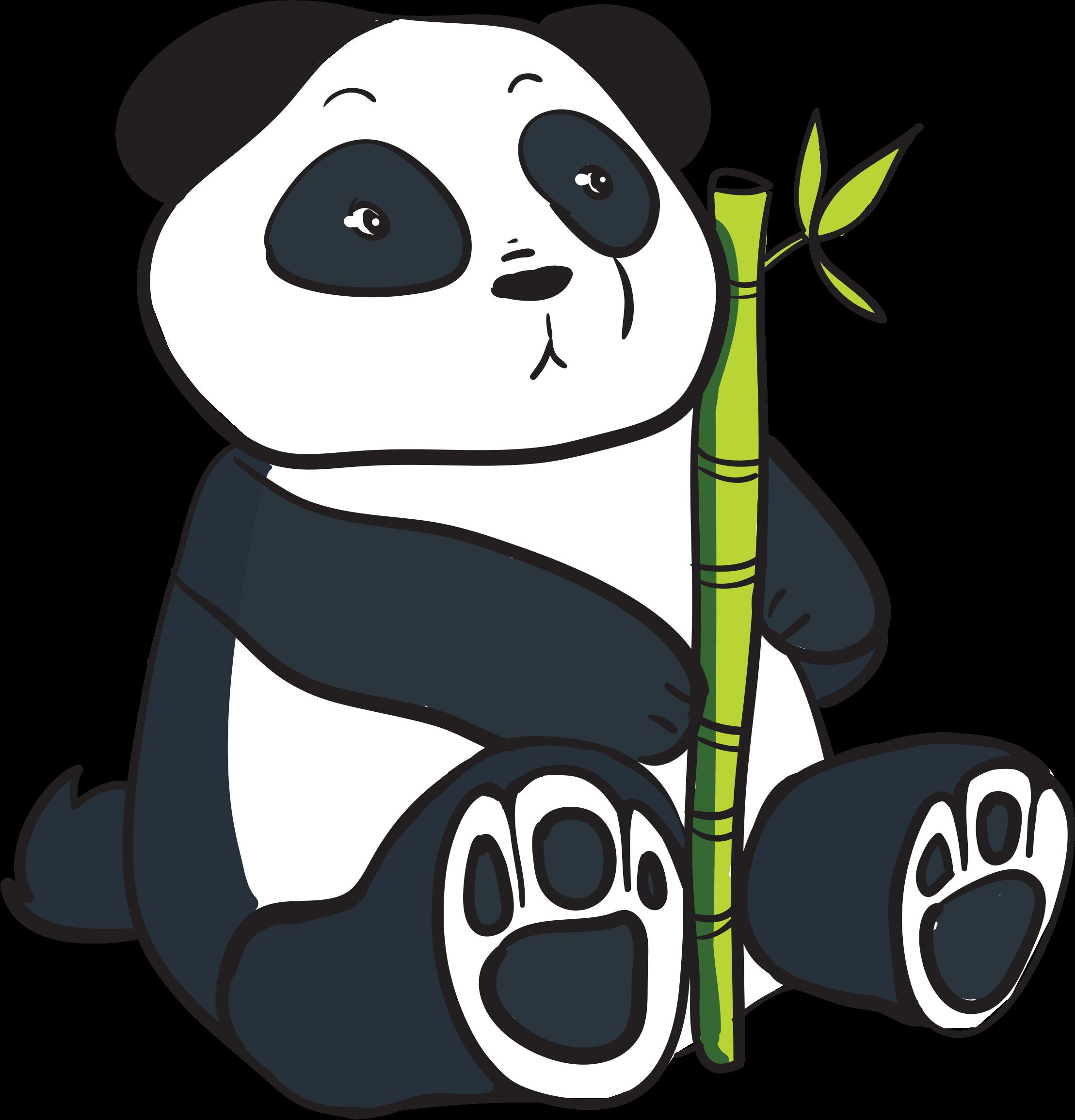 clip download Bamboo transparent cute cartoon. Clipart panda with stalk
