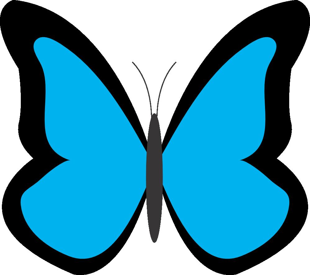 jpg free stock Blue butterfly clip art