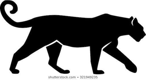 clip royalty free stock Portal . Panther walking clipart