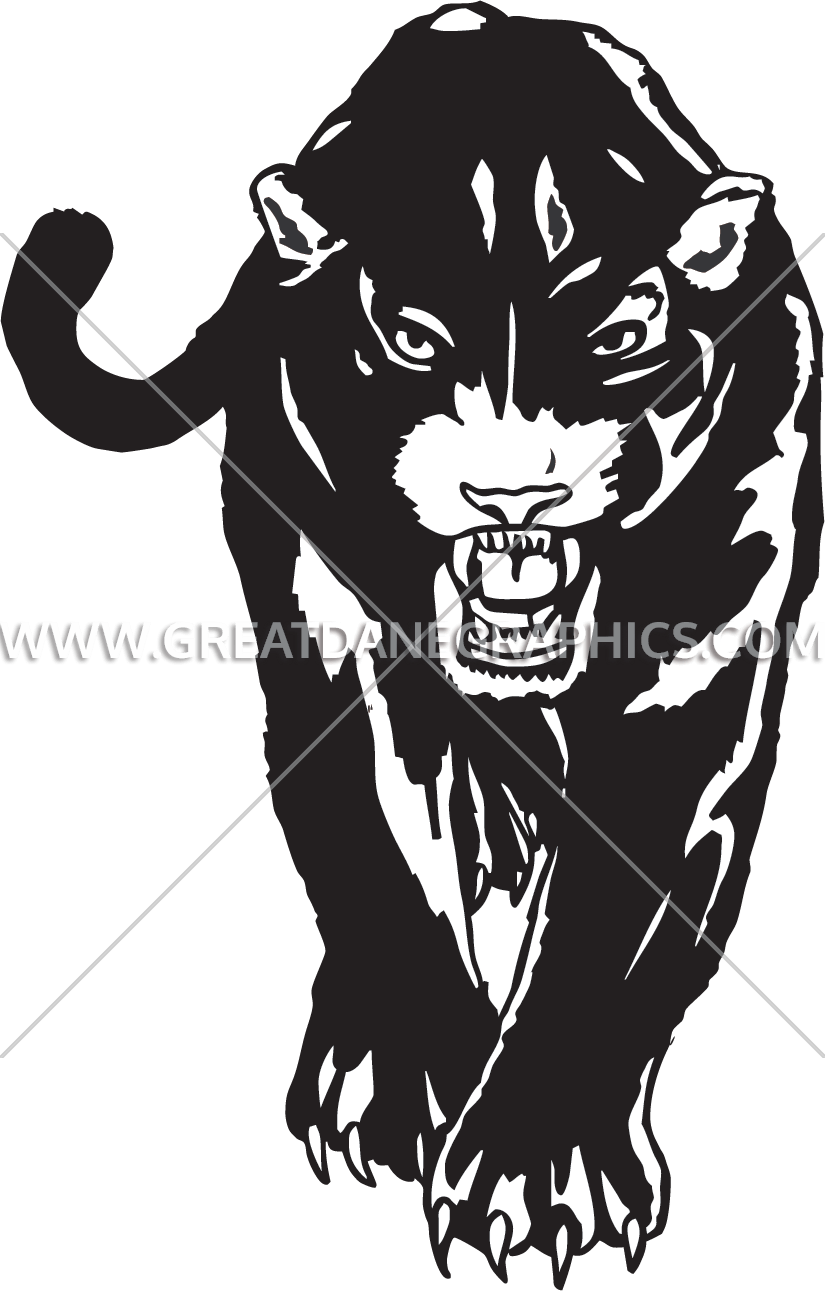 clip library stock Panther walking clipart. Production ready artwork for