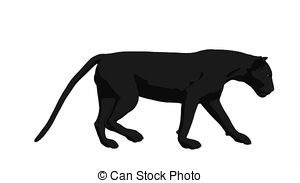 clipart black and white Panther walking clipart. Portal