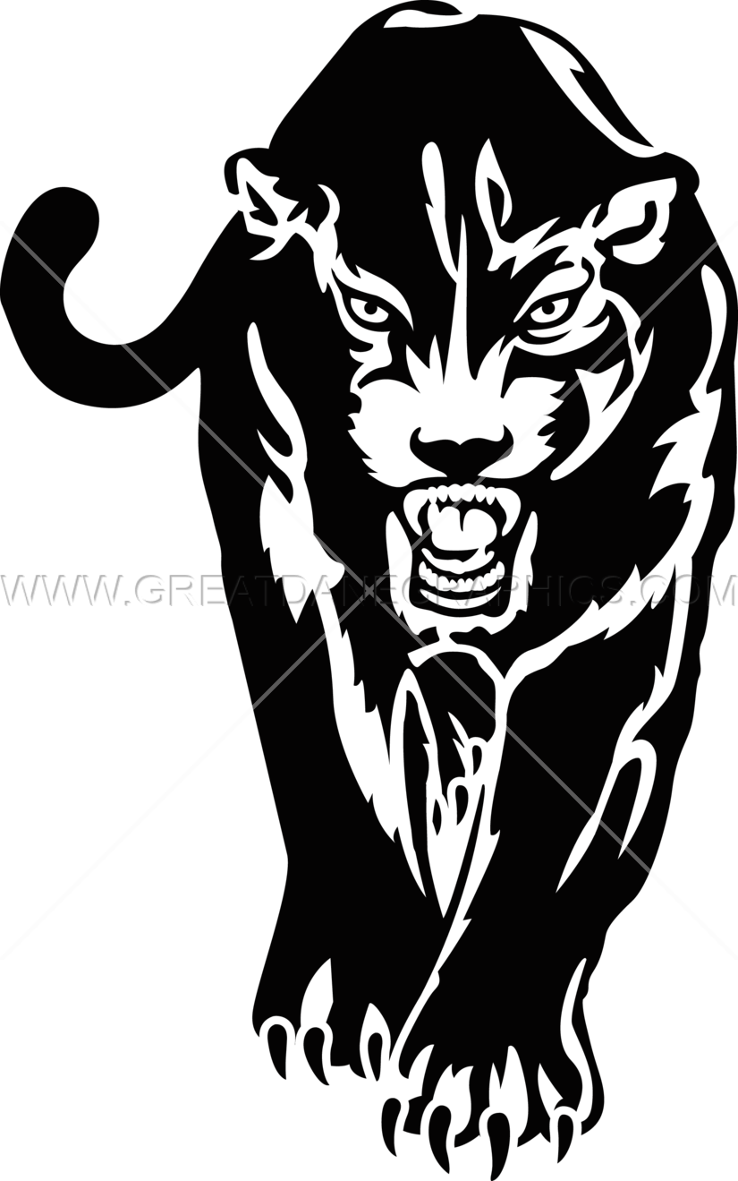 clip art library library Panther walking clipart. Production ready artwork for