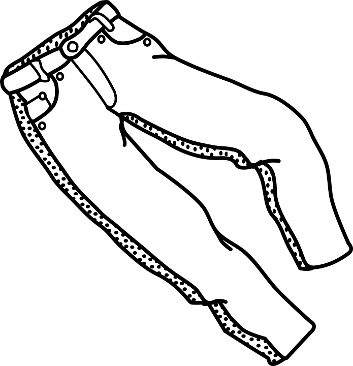image library download Free on dumielauxepices net. Clothes clipart jeans.