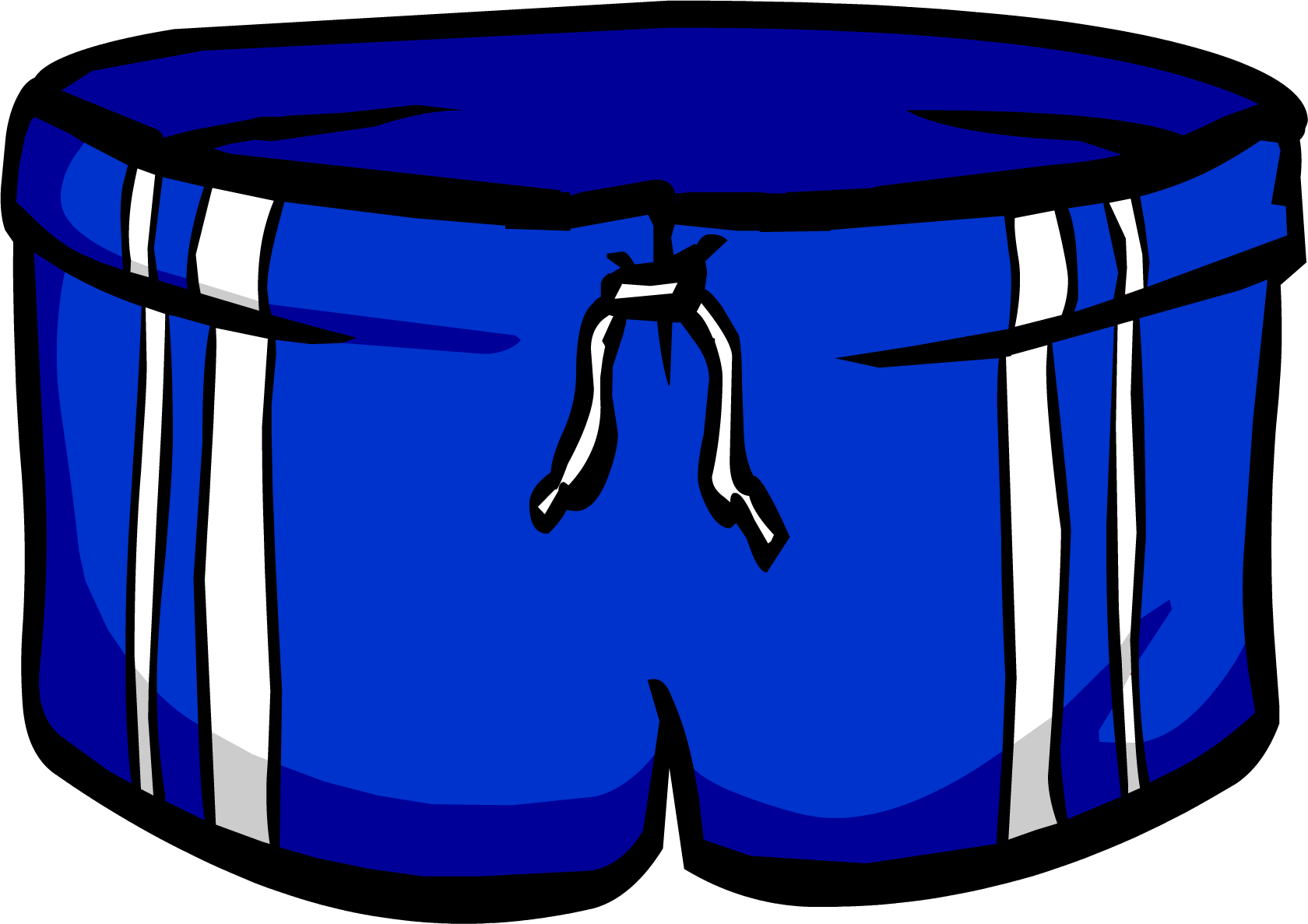 clipart freeuse library Blue club penguin wiki. Trunk clipart swimming shorts