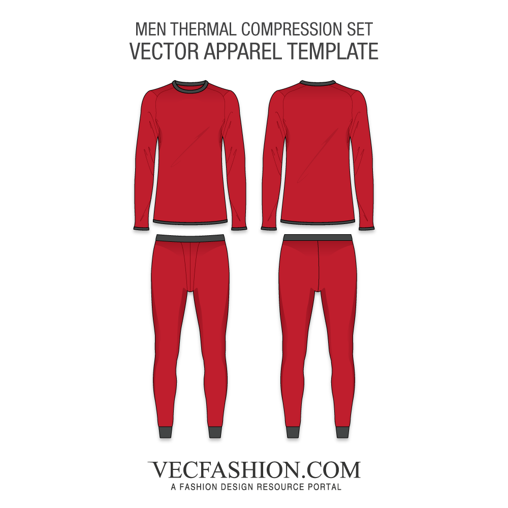 vector black and white library Men training thermal compression. Vector clothing sportswear