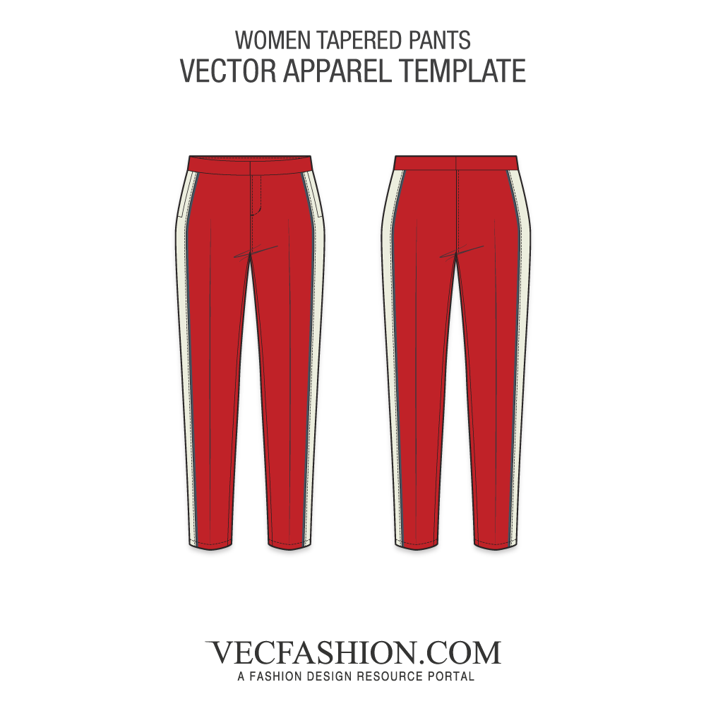 banner free library Women tapered pants template. Underwear vector womens