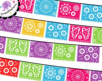 picture free stock Papel picado clipart. Mexican banners clip art.