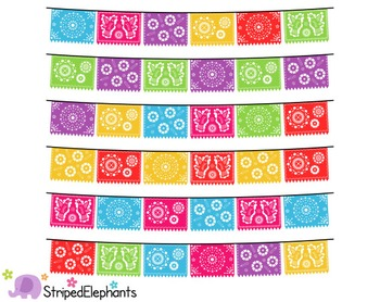 png free download Mexican banners clip art. Papel picado clipart picado banner.