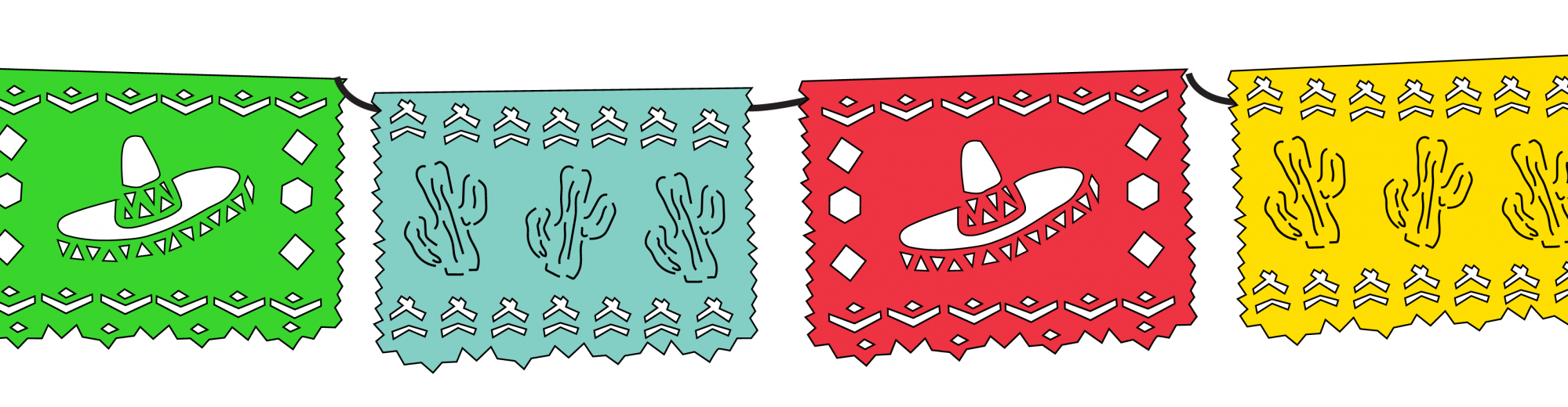 clip royalty free stock Papel picado clipart picado banner.  images of transparent.