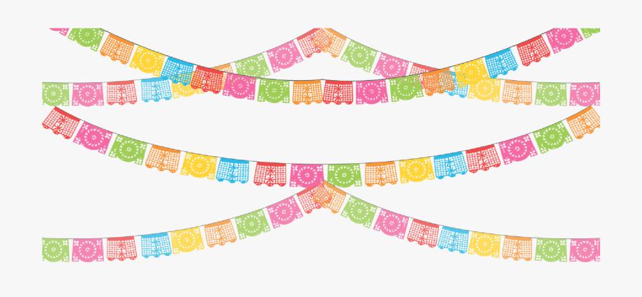 clip freeuse library Papel picado clipart picado banner. Fiesta flags png .