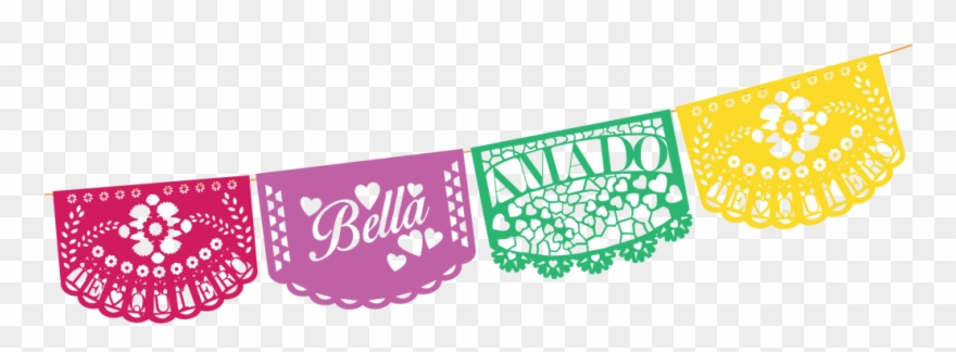 clipart free download Papel picado clipart picado banner. Mexican fiesta bunting party.