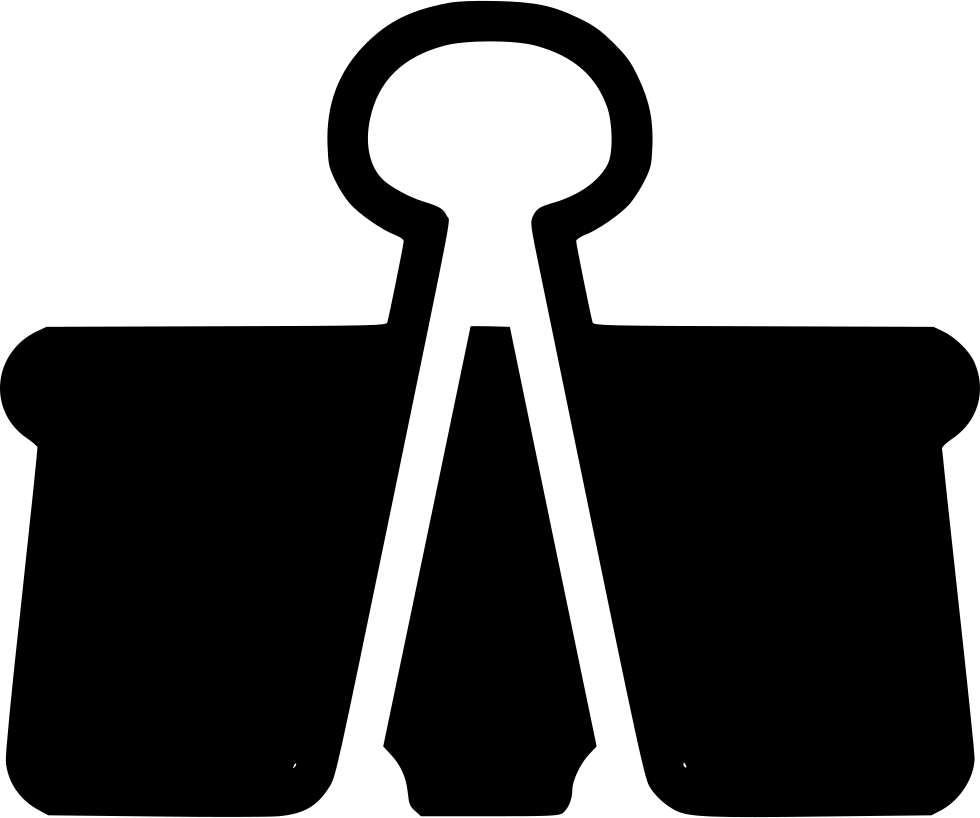 picture free stock Svg png icon free. Paper clip clipart black and white