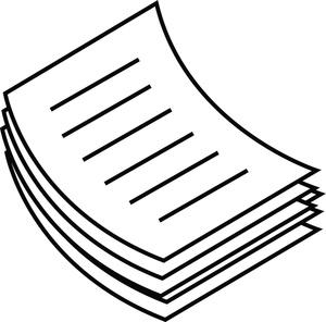 jpg Paper clipart. Clip art of pile
