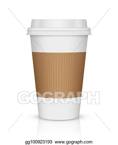 graphic freeuse Vector illustration isolated on. Paper coffee cup clipart