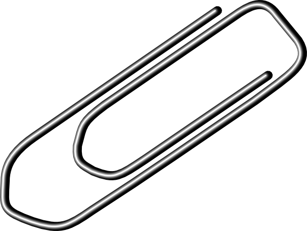 svg free download Art at clker com. Paper clip clipart black and white