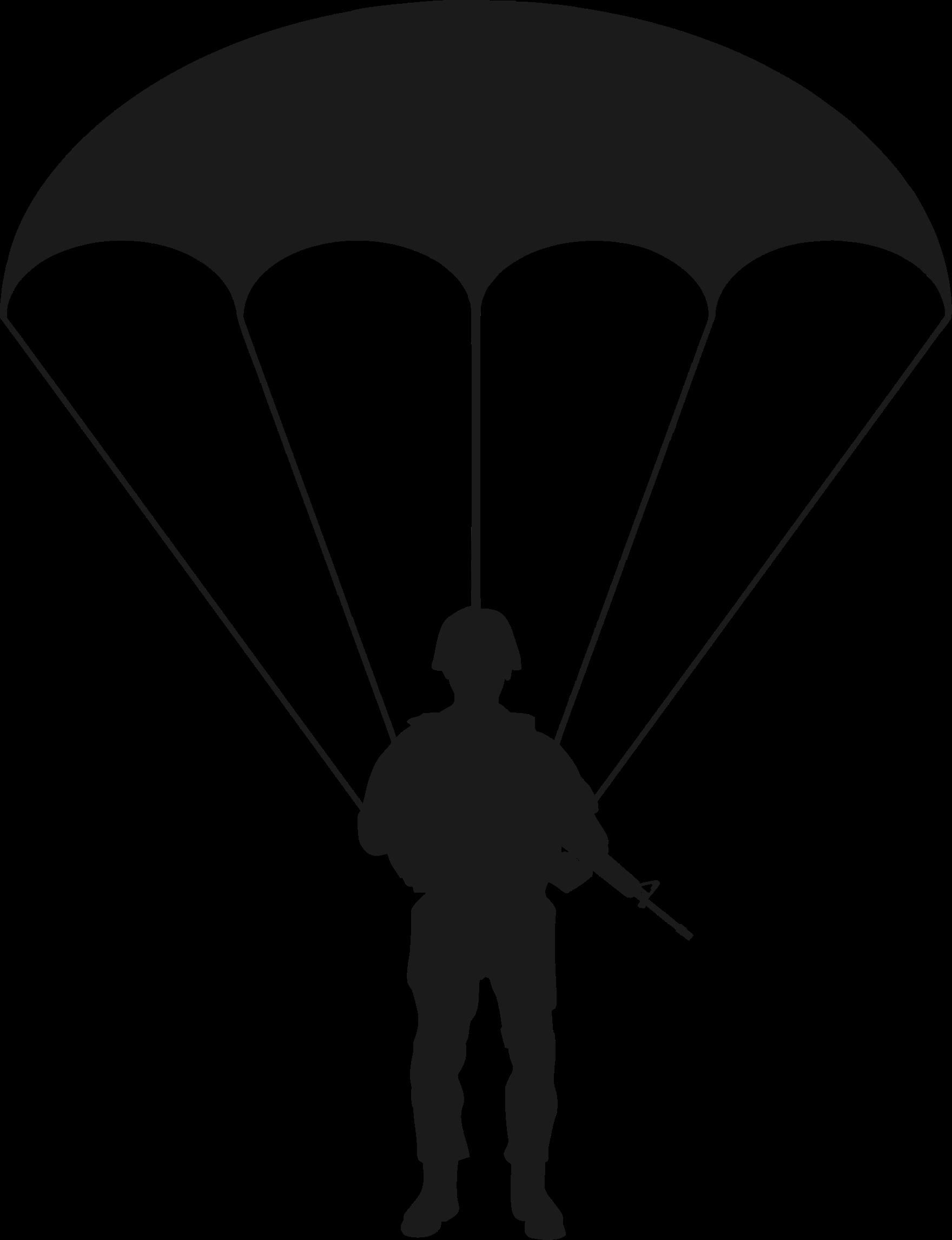 clip transparent download Parachute clipart. Silhouette free on dumielauxepices