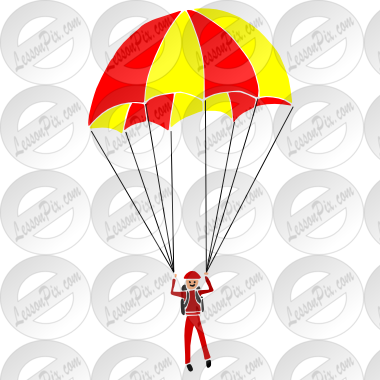 clipart library stock Parachute clipart. Stencil for classroom therapy
