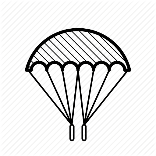 picture freeuse library Drawing at getdrawings com. Parachute vector