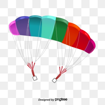 jpg library Cartoon png psd and. Parachute vector clipart