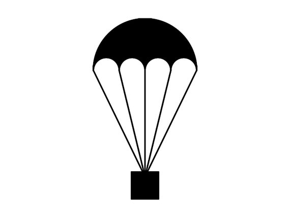 vector royalty free library Parachute vector clipart. Svg silhouette cutting file
