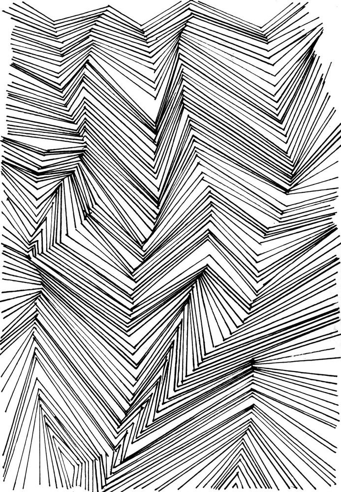 picture library library Parametric drawing. Monochrome pattern