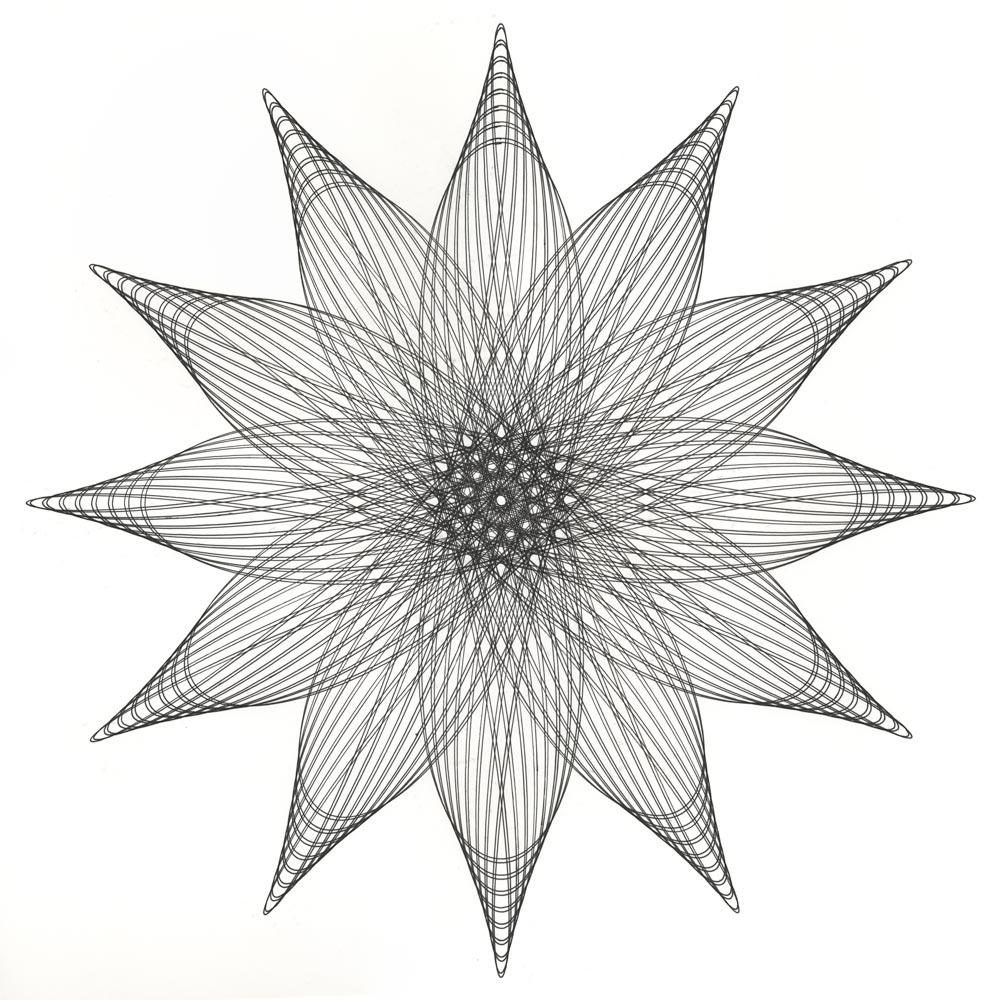 vector black and white stock Study vs full size. Parametric drawing