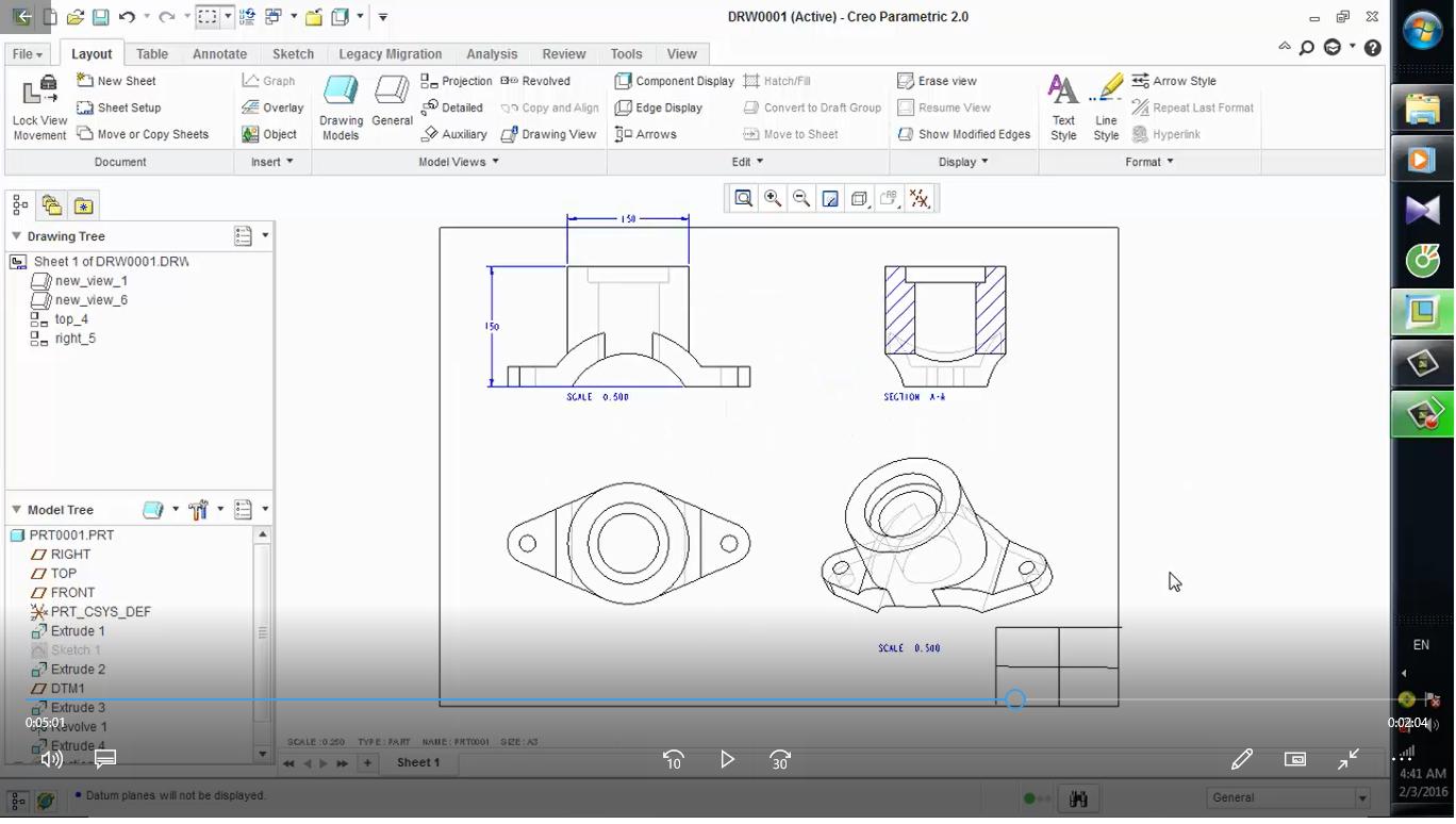 banner freeuse stock Parametric drawing. Creo grabcad tutorials