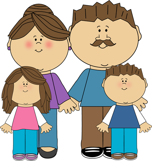 graphic royalty free download Kids lining up clipart. Parents and children misc.