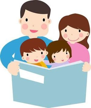 svg freeuse stock Parent reading to child clipart. Portal