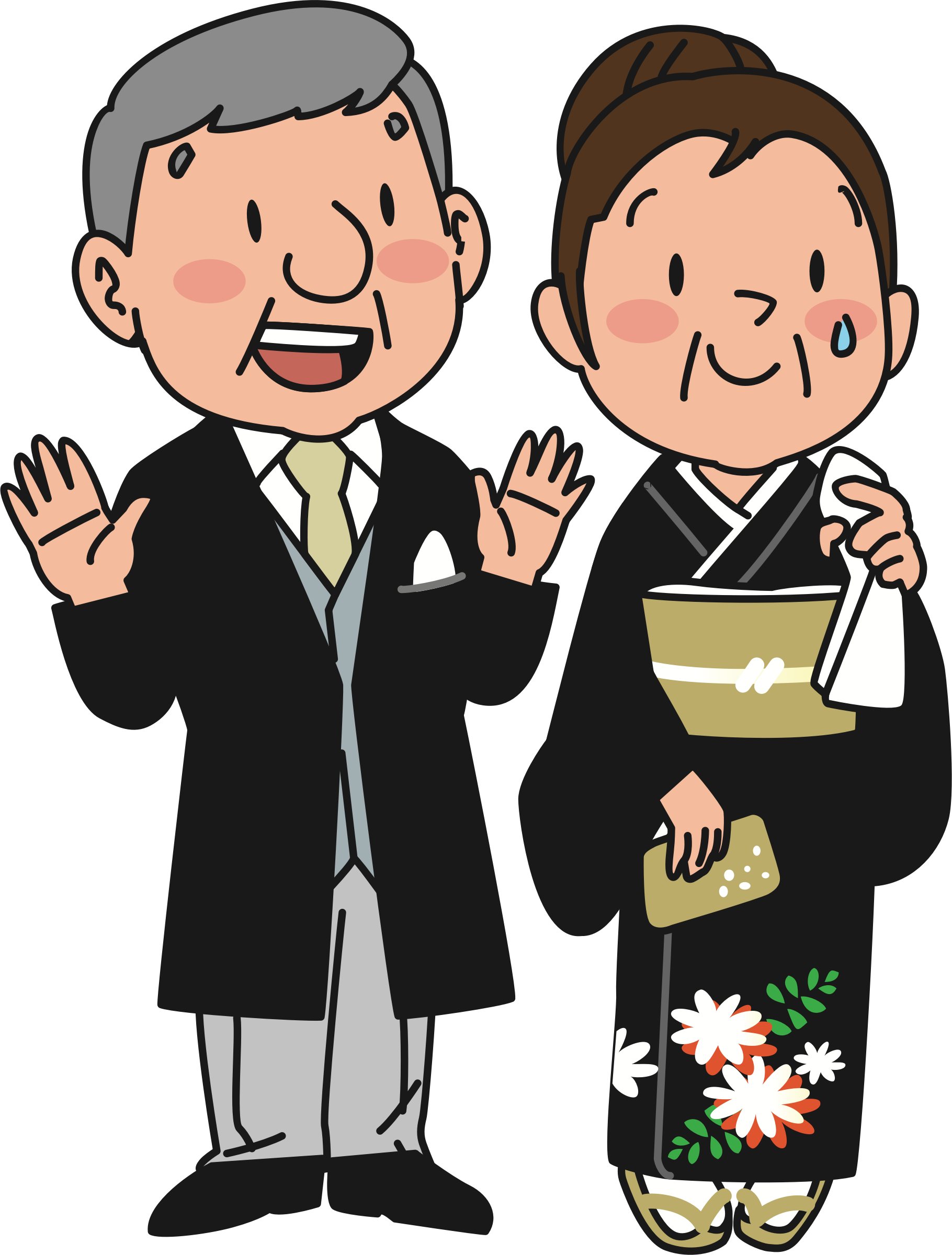 clip transparent stock Parents at wedding big. Grandfather clipart grandmather