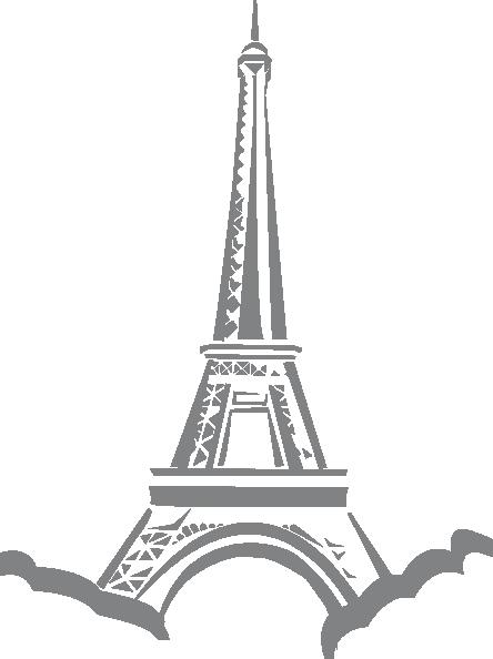 svg royalty free download Eiffel Tower Paris Clip Art at Clker