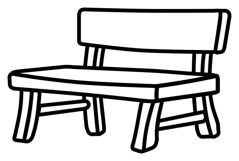 picture black and white stock park bench clipart black and white #58036885