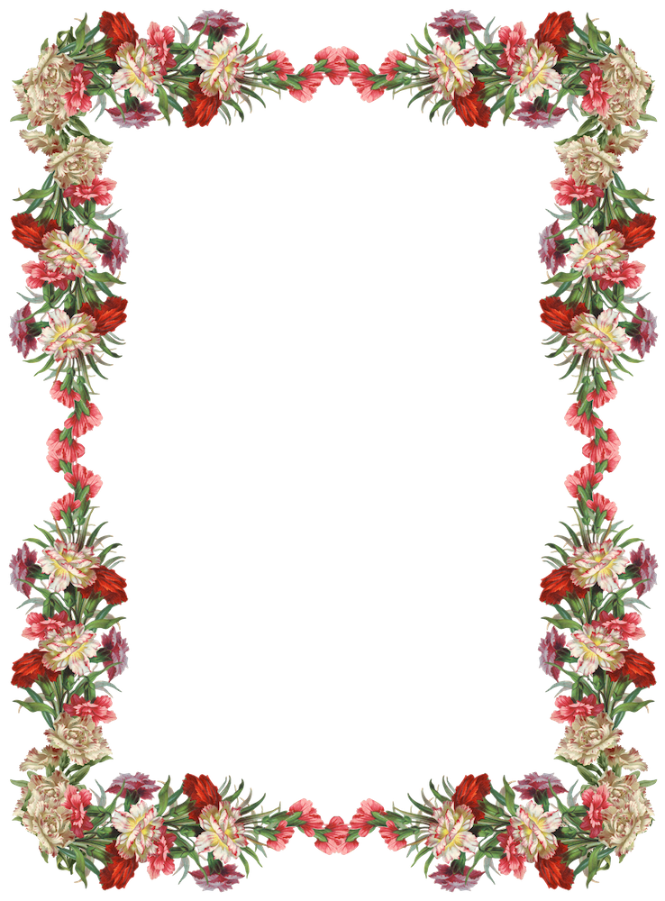 banner free library Free digital vintage flower frame and border