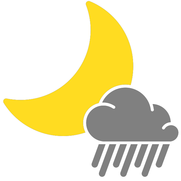 jpg free stock simple weather icons scattered showers night