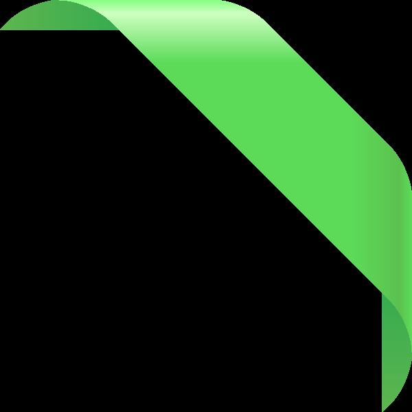 jpg free library Corner ribbon light data. Green vector backgound