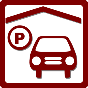 banner freeuse download Hotel icon indoor red. Parking lot clipart.