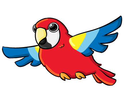 clip art library stock Parrot clipart. Google search animals pinterest.